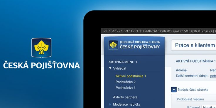 Extensive UX project for Česká pojišťovna, which included a complete redesign of intranet applications.