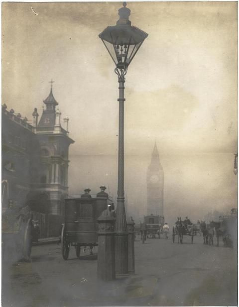 Smog of London hiding Big Ben - Taken by Linley Sambourne, 1905