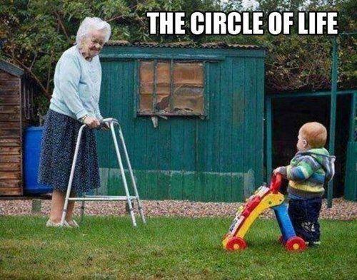 The ironic circle of life.