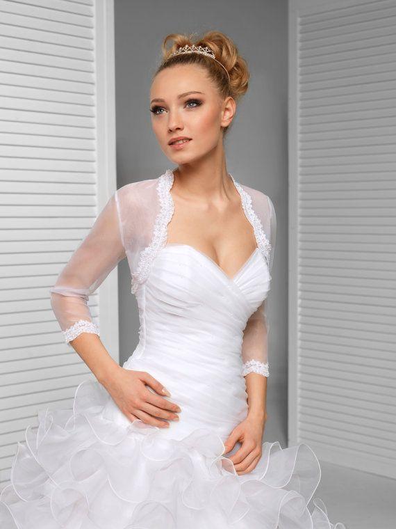 34 sleeve bridal bolero wedding shrug