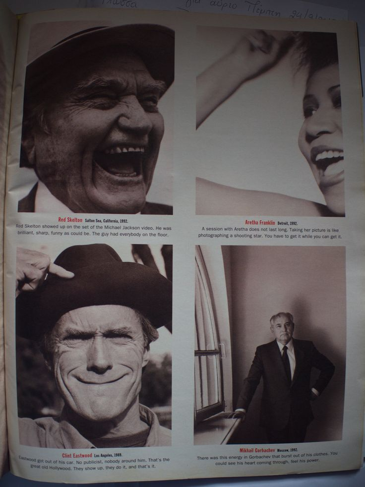 Herb Ritts - Notorius (Red Skelton, Aretha Franklin, Clint Eastwood, Mikhail Gorbachev)