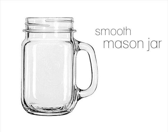 Mason Jars with Handles - smooth design