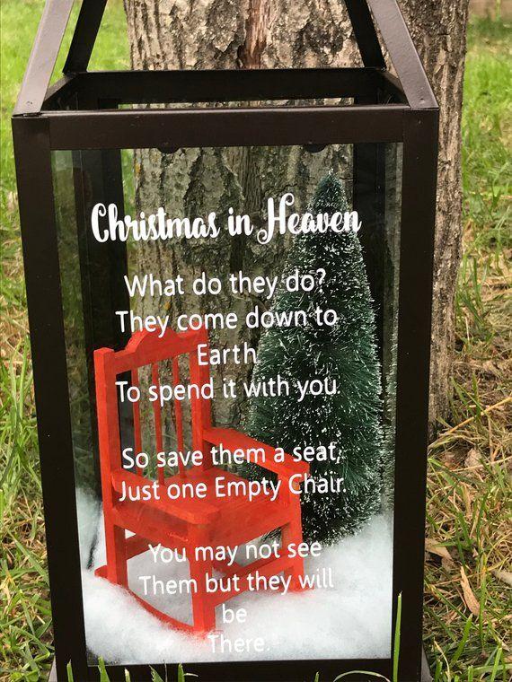 Christmas In Heaven Lantern Diy.Christmas In Heaven Lantern Memorial Lantern Valentines