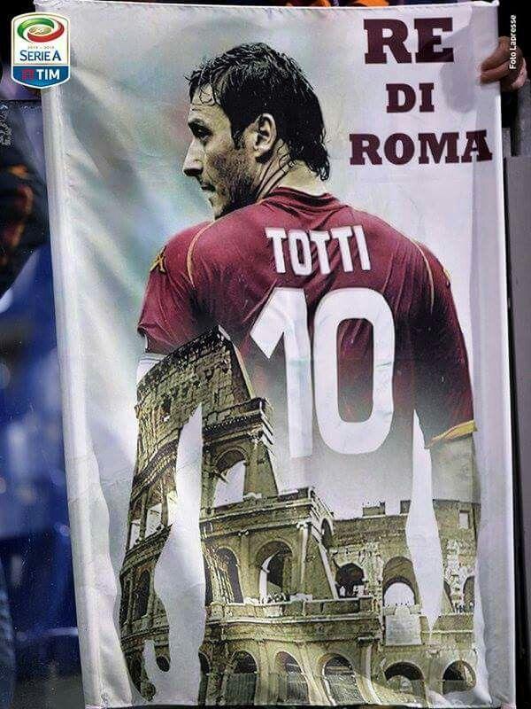 Francesco Totti AS Roma #IlCapitano #ReDiRoma