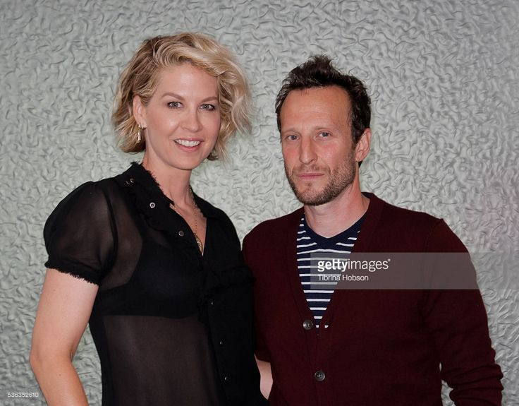 Jenna Elfman and Bodhi Elfman attend the AOL BUILD series on May 31, 2016 in Los Angeles, California.