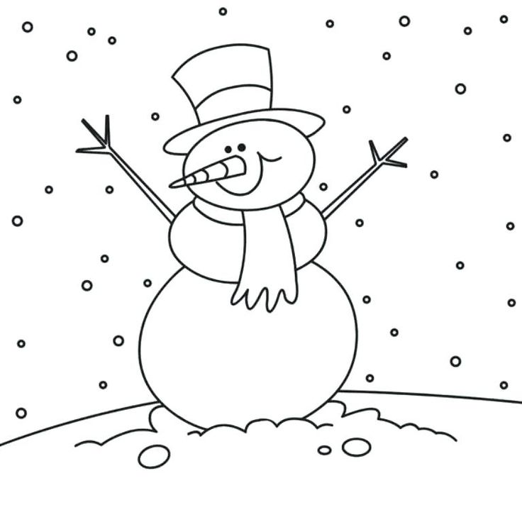 The 25+ best Snowman coloring pages ideas on Pinterest | Printable ...
