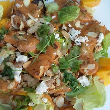 Creamy Chicken Salad with Almonds and Mango recipe