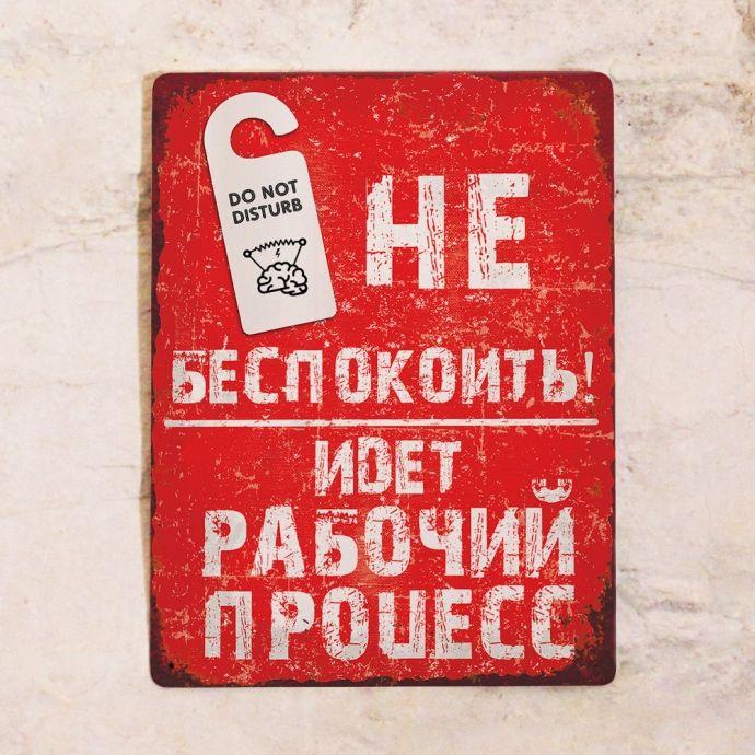 Декоративная табличка Не беспокоить!. Купить с доставкой по РФ.