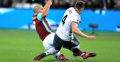 Sofiane Feghouli Red Card Rescind      West Ham have won their appeal over midfielder Sofiane Feghouli's sending off against Manchester United which the Hammers lost 2-0on Monday the English FA announced on their official websiteon Wednesday.  The Algerian player was harshly sent off by Mike Dean following a tackle on Phil Jones. A statement on the FA's website reads: Sofiane Feghouli has had his claim of wrongful dismissal upheld today [Wednesday 4 January 2017] following an Independent…