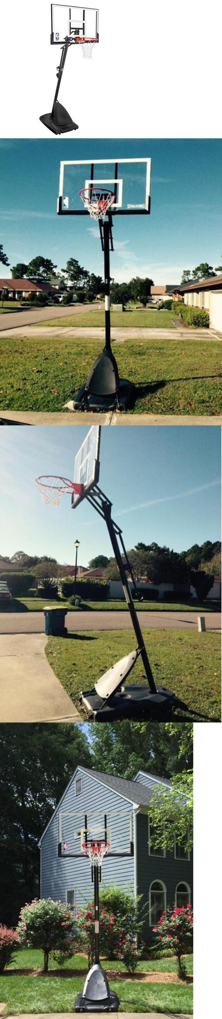 Basketball: Nba Portable Basketball Hoop System Basketball System Spalding 54 Acrylic New -> BUY IT NOW ONLY: $329.97 on eBay!