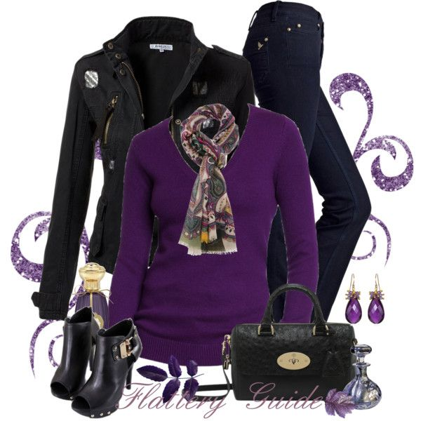 Casual Outfit: Purple Shorts, Black Cardi, Purple Black, Purple Casual, Outfits Ideas, Fabulous Purple, Casual Outfits, Black Jeans, Purple Tops
