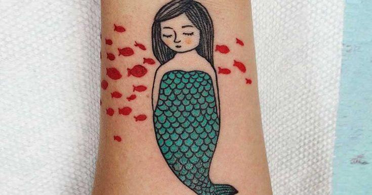36 υπέροχα τατουάζ με θέμα τις γοργόνες