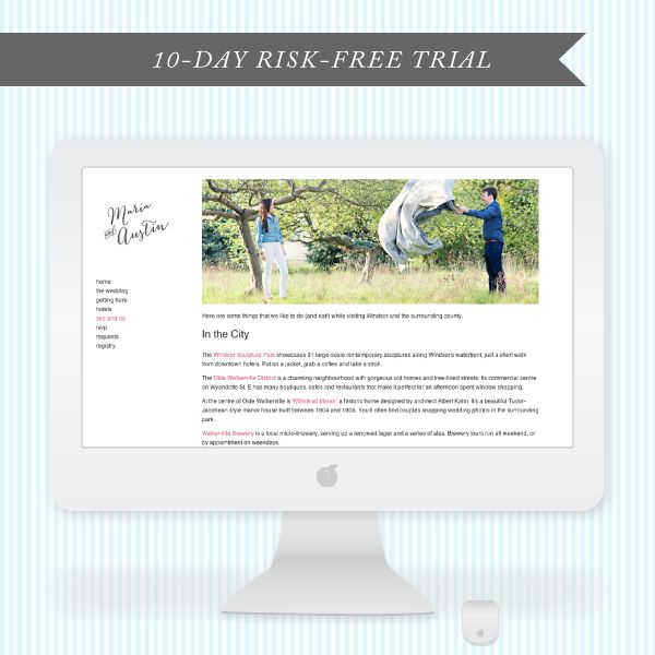 Virb Wedding Website Templates http://www.iwedplanner.com/