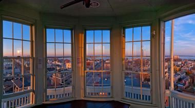 The Portland Observatory Maine, open from 10am to 5pm, $10 admission.