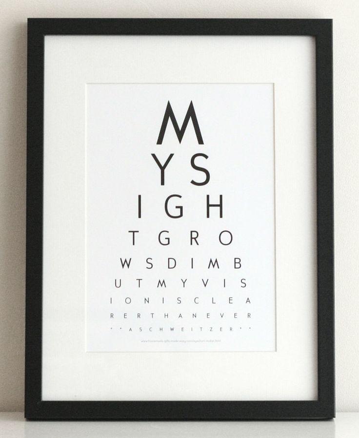 Eye Chart Maker | Make your own eyechart art to print at home | Albert Schweizer inspirational quote