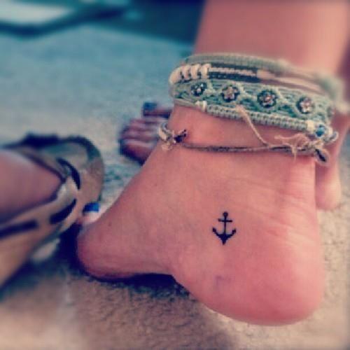 sexy selfshot pictures little cute anchor tattoo http://datetattooedgirls.tumblr.com Hot Tattooed Girls tattoos for girls: