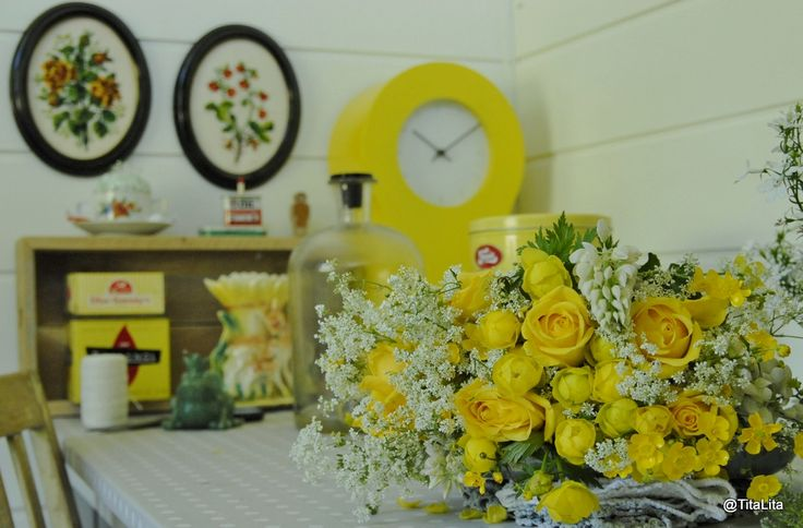 Summerflowers and home office