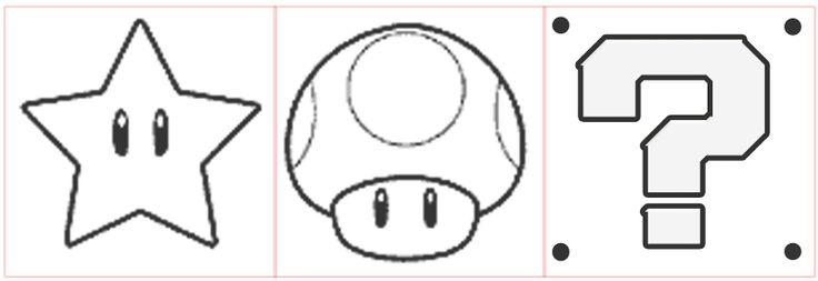 mario+star+template | Sample Template for: Mushroom / Star / ? Block Square