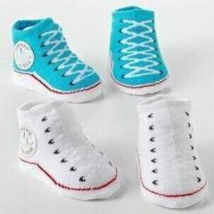 [ $30 OFF ] Wholesales 350Pairs/lot 0-12 Month Fashion Newborn Cartoon Modelling Socks Infants Baby Footwear Non-Slip Cotton Baby Socks