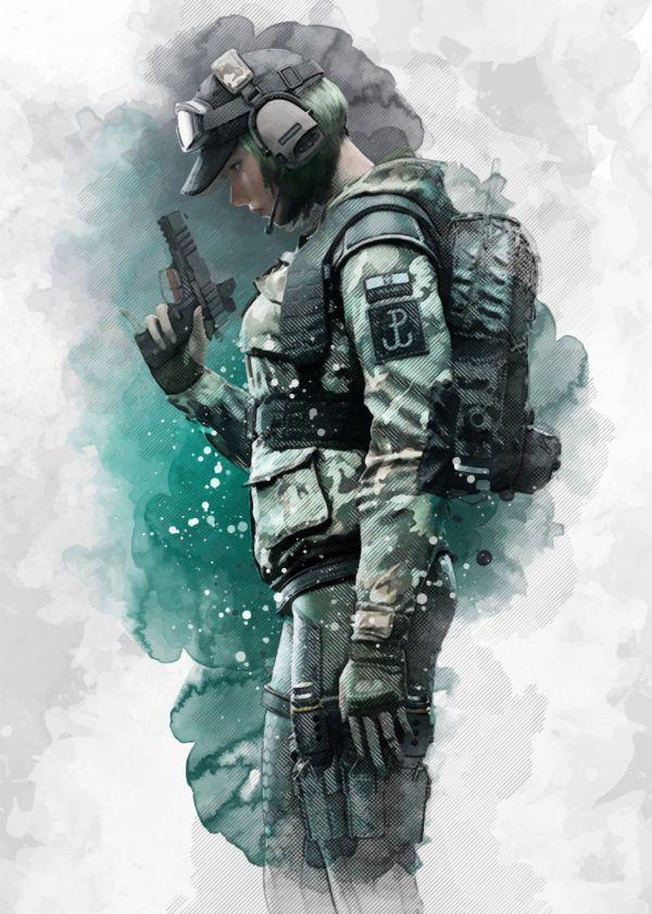Ela Rainbow Six Gaming Poster Print Metal Posters