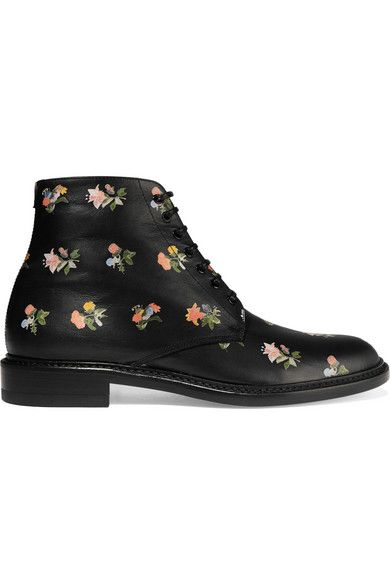 Heel measures approximately 10mm/ 0.5 inches Multicolored leather Lace-up front Made in Italy