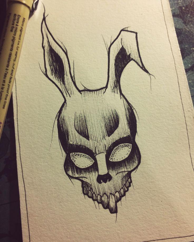 Donnie Darko blacwork Design @gabstattooart