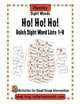 Fun sight word game for the Christmas season.  All Dolch 220 sight words.