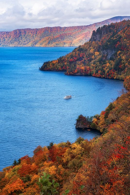 Towada Lake In Autumn - Aomori, Japan