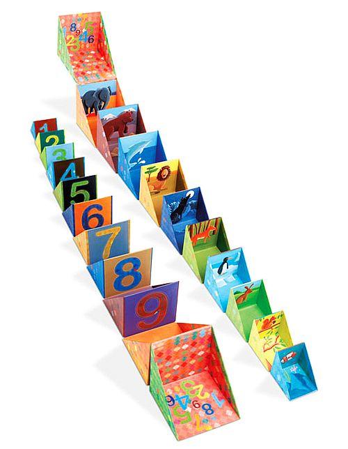 Edukacyjne, składane pudełka - klocki dla dzieci, JND02933-Janod, zabawki z…