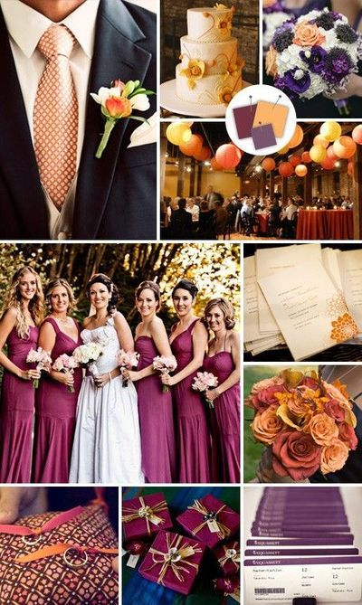 Burgundy+Creamsicle+Plum Wedding Color Palette / wedding ideas - Juxtapost