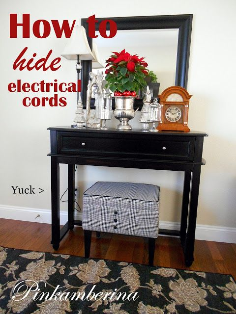 PinkAmberina: How To Hide Electrical Cords