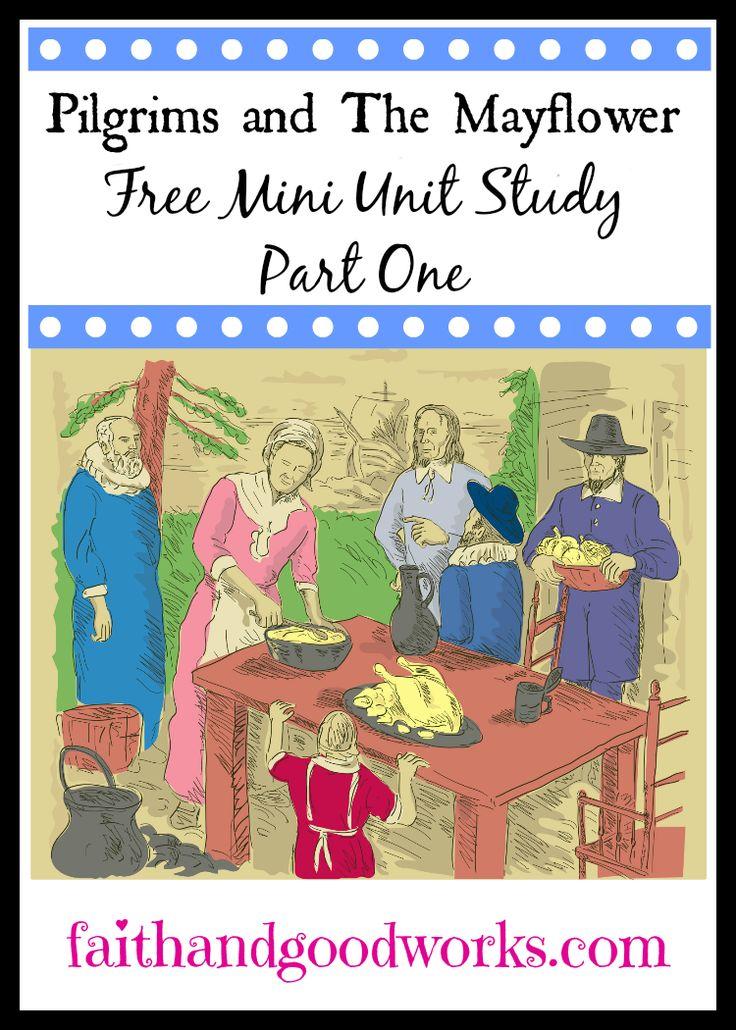 Mini Unit Study on Thanksgiving, Pilgrims, & The Mayflower {Part 1} using free online resources. {Part of the Free Unit Studies Blog Hop}
