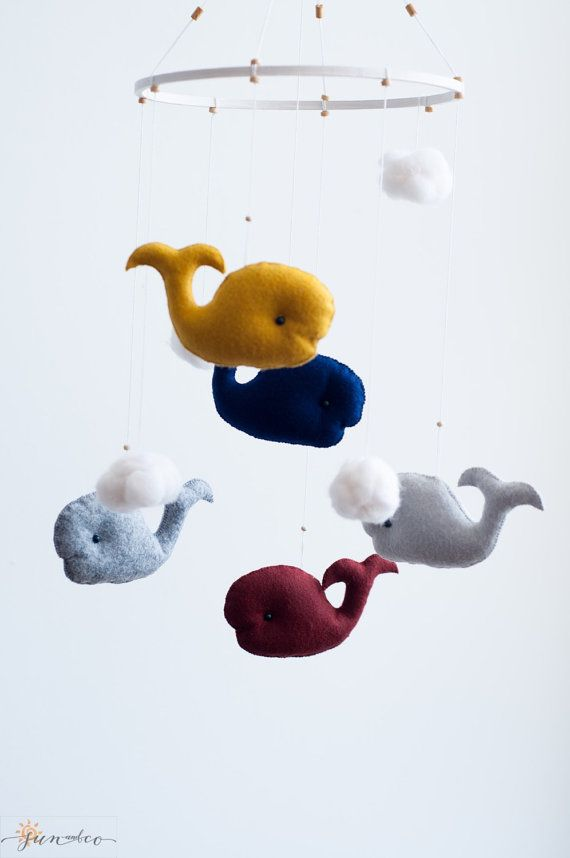 Eco Friendly Whale Mobile hanging is an adorable piece of art, perfect…