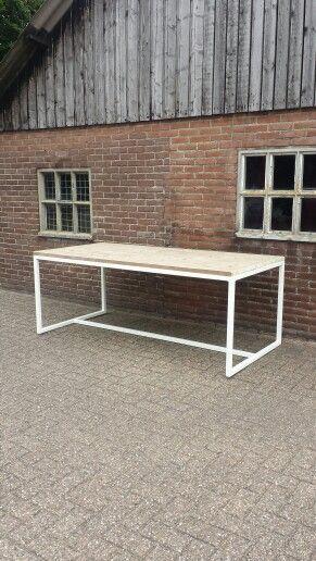 Table by Lijn M. Modern white scandinavic