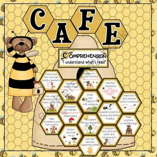 CAFE Bee Bulletin Board Set from Celebrate Learning Designs on TeachersNotebook.com (72 pages)  - A creative, fun way to set up your CAFE Bulletin Board!