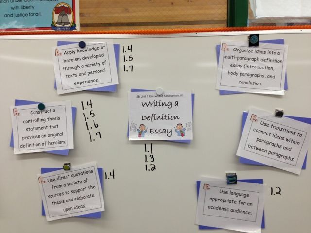 SpringBoard doesn't mean the end of your creativity!: Picture of Embedded Assessment skills on mini-posters.