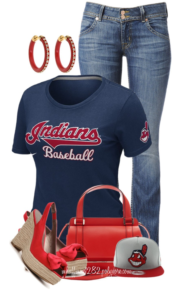 """""""Cleveland Indians"""" by mhuffman1282 ❤ liked on Polyvore"""
