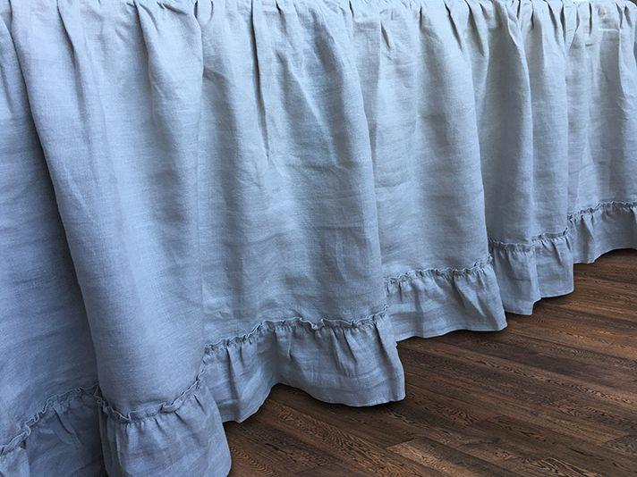 Grey Linen Bed Skirt : Best linen bedskirt images on duvet