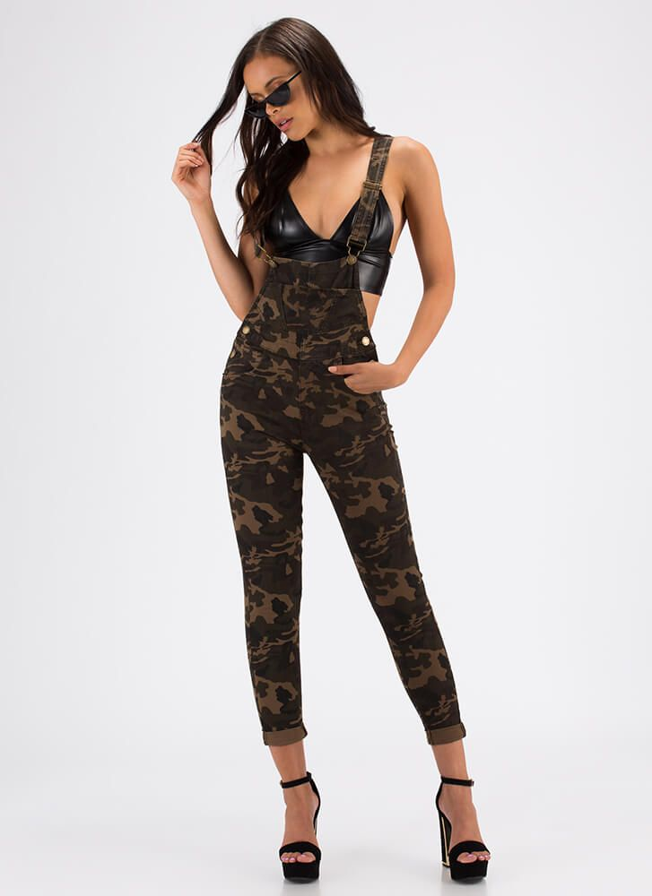 6a262c9485515 Military Mood Camo Overalls CAMOUFLAGE Military Style, Military Fashion,  Casual Jumpsuit, Camo Print