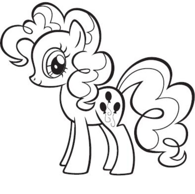 Pinkie Pie coloring page My little pony drawing My
