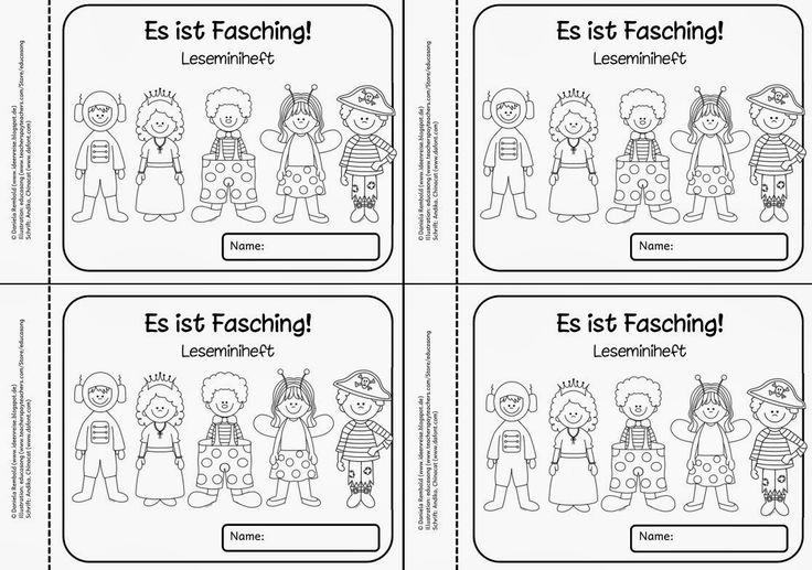 Leseminiheft mit kleinen Faschingstexten   Als kleines Lesematerial zur Faschingszeit kommt hier ein Leseminiheft  mit Texten rund um versc...