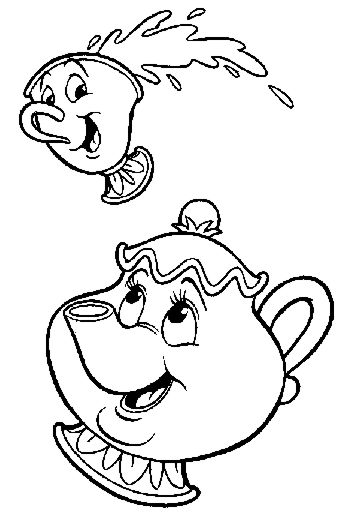 chip and mrs potts coloring pages | 1000+ images about God's Guest List on Pinterest | Disney ...