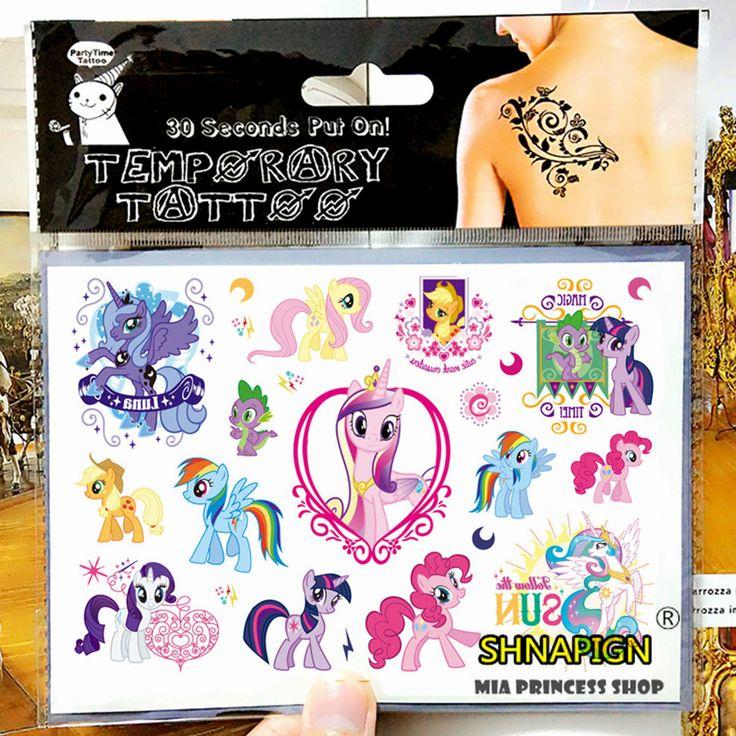 My Little Pony Juguete Niño Flash Del Tatuaje Temporal Body Art Tattoo Pegatinas 17*10 cm Impermeable Coche Tatuaje de Henna estilo Etiqueta de La Pared