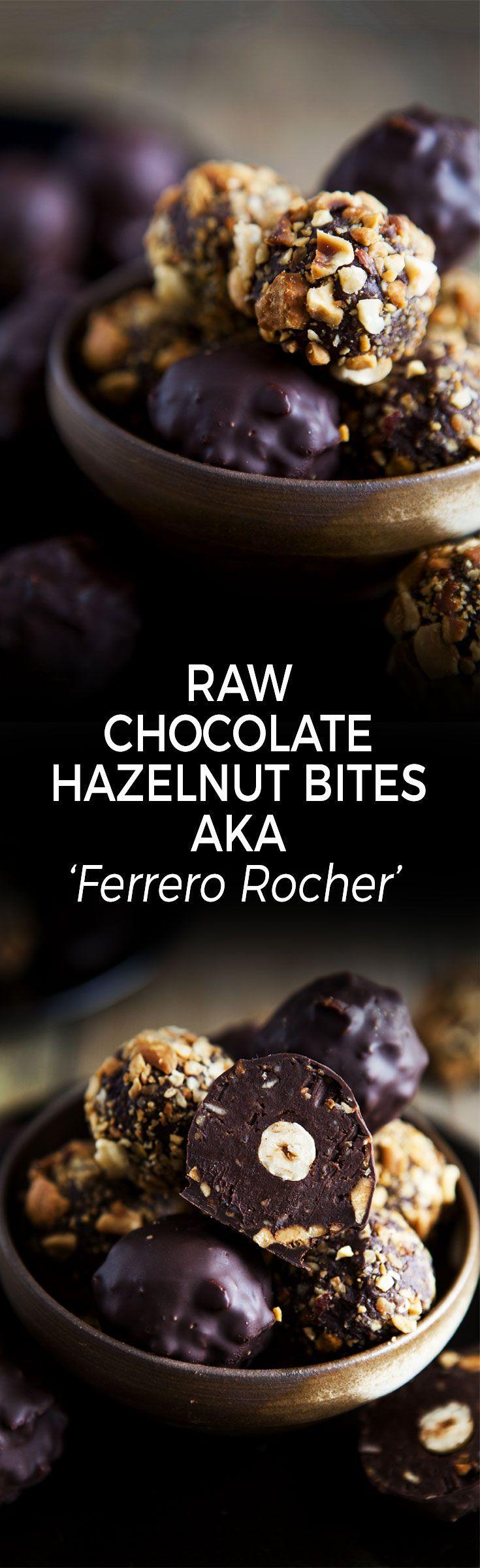Raw Chocolate Hazelnut Bites aka 'Ferrero Rocher' by Goodness is Gorgeous / Vegan, gluten-free, dairy-free