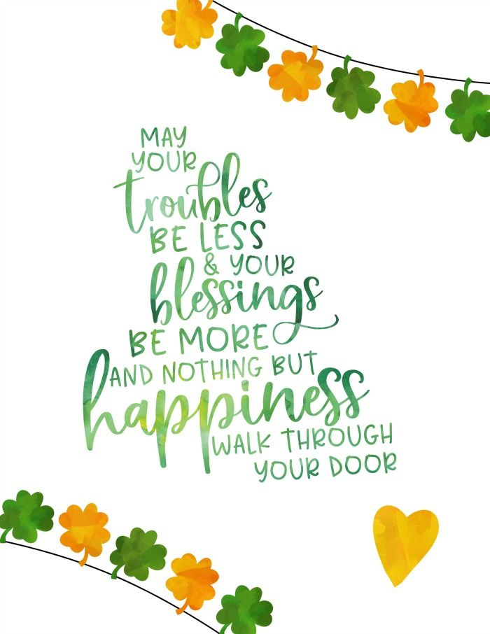 photo regarding Free Printable Clipart for St Patrick's Day known as Totally free Printable St. Patricks Working day Wall Artwork St Patricks St