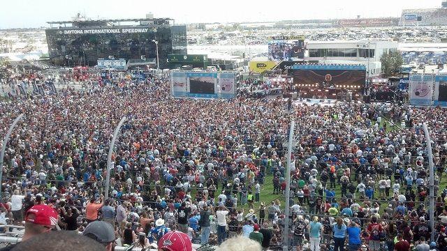There Were Good Crowds at Daytona International Speedway