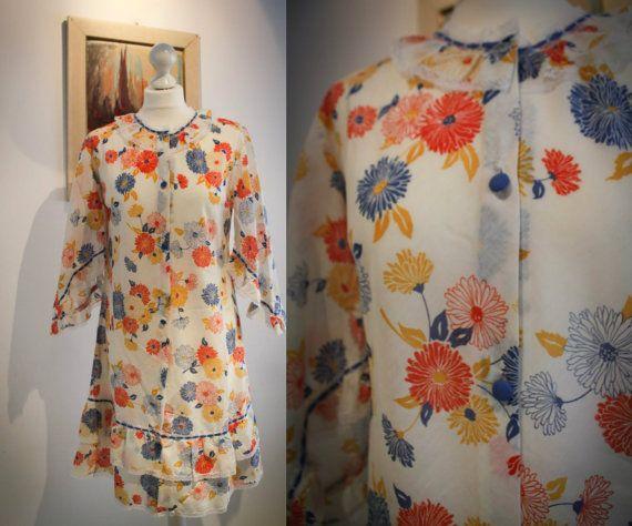 1970s Italian Vintage Cotton Dress by BelmondoVintage on Etsy, €40.00