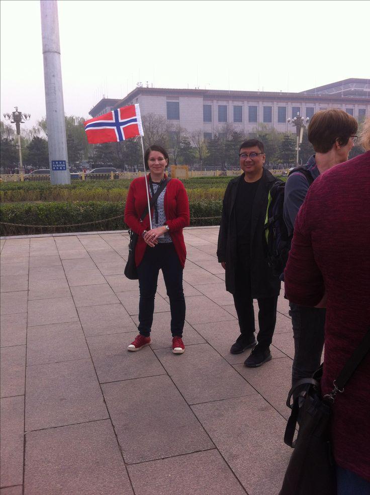 Vår guide och lokal guiden I Beijing.