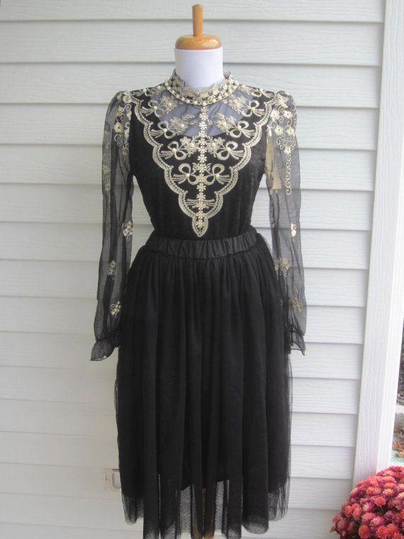 Black Lace Blouse black lace shirt Victorian by MaidenLaneBoutique