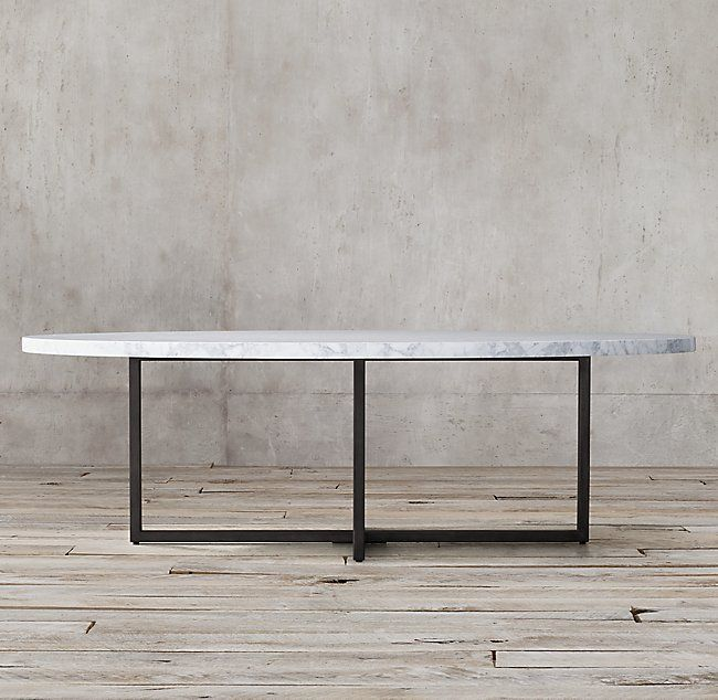 """Torano Marble Oval Dining Table. 78"""". $2995"""